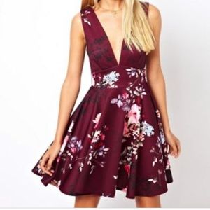 Asos watercolor skater dress